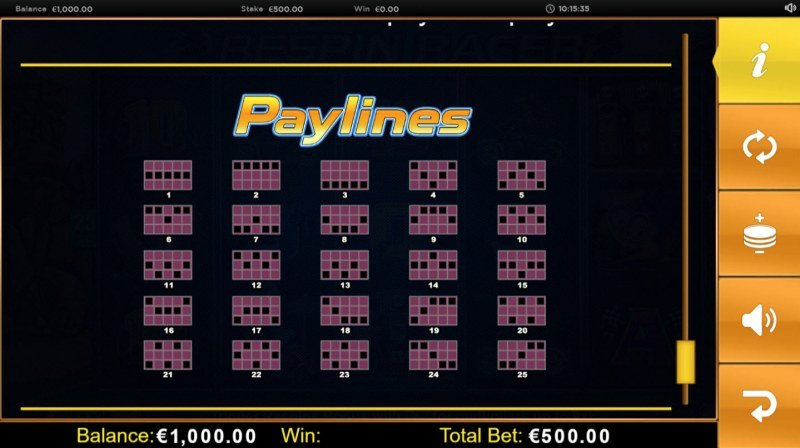 Play slots at Vegas Winner: Vegas Winner featuring the Video Slots Respin Racer with a maximum payout of $62,500
