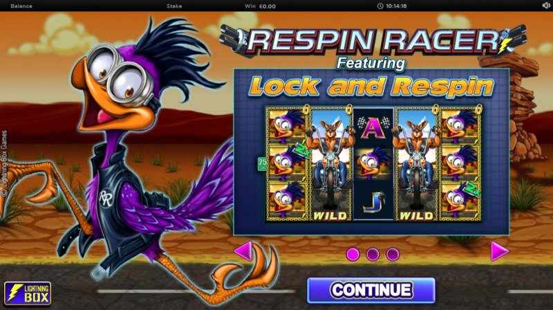 Play slots at My Bet: My Bet featuring the Video Slots Respin Racer with a maximum payout of $62,500