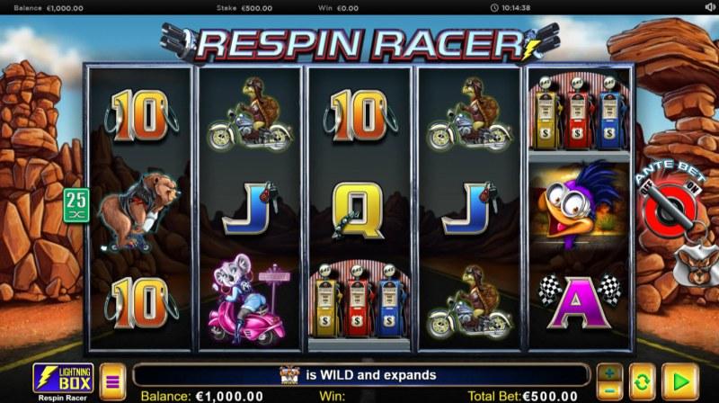Respin Racer :: Main Game Board