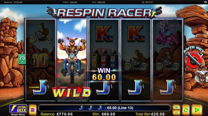 Respin Racer :: Five of a kind