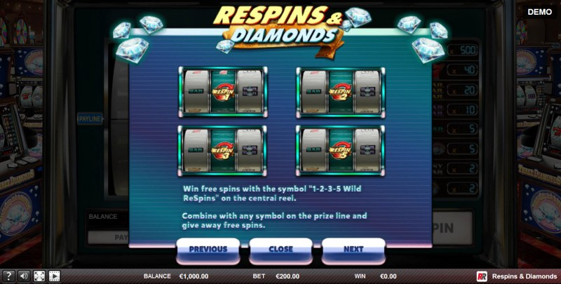 Respins & Diamonds :: Wild Respin Rules