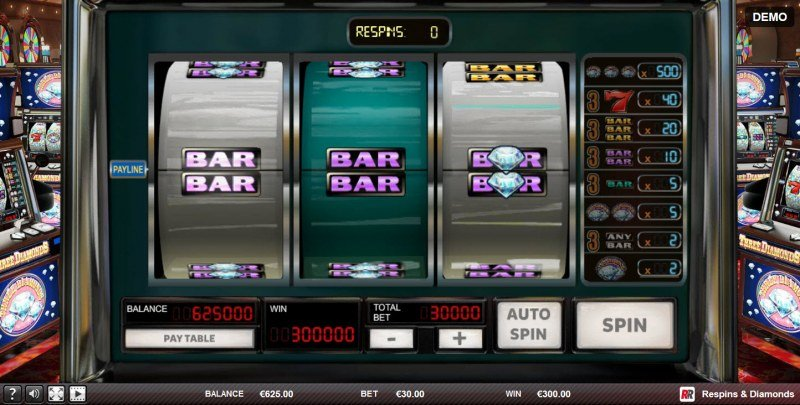 Play slots at King Tiger: King Tiger featuring the Video Slots Respins & Diamonds with a maximum payout of $100,000