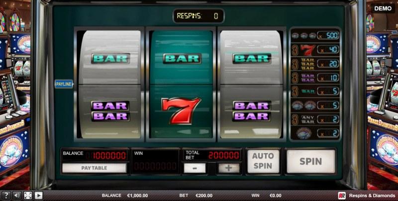 Play slots at Malina: Malina featuring the Video Slots Respins & Diamonds with a maximum payout of $100,000
