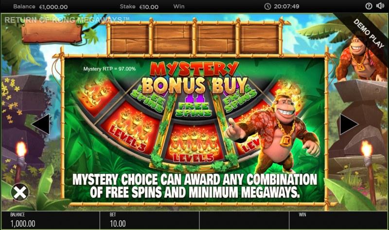 Return of Kong Megaways :: Bonus Game Rules