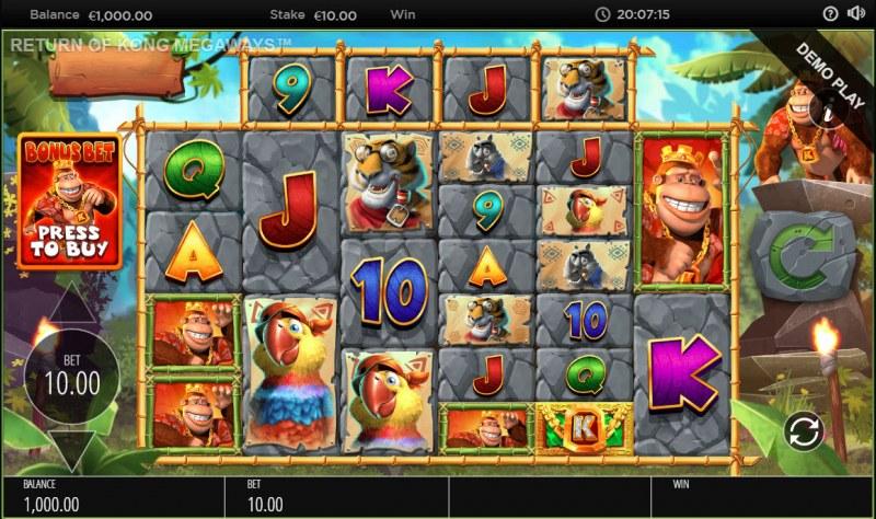 Return of Kong Megaways :: Main Game Board