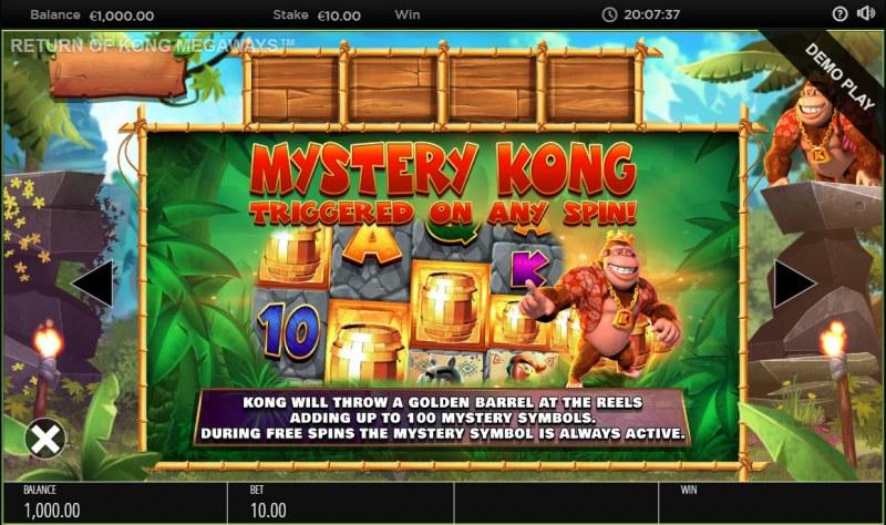 Return of Kong Megaways :: Mysterys Kong Feature