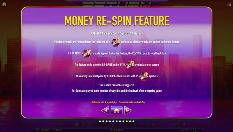Return to the Feature :: Money Re-Spin Feature