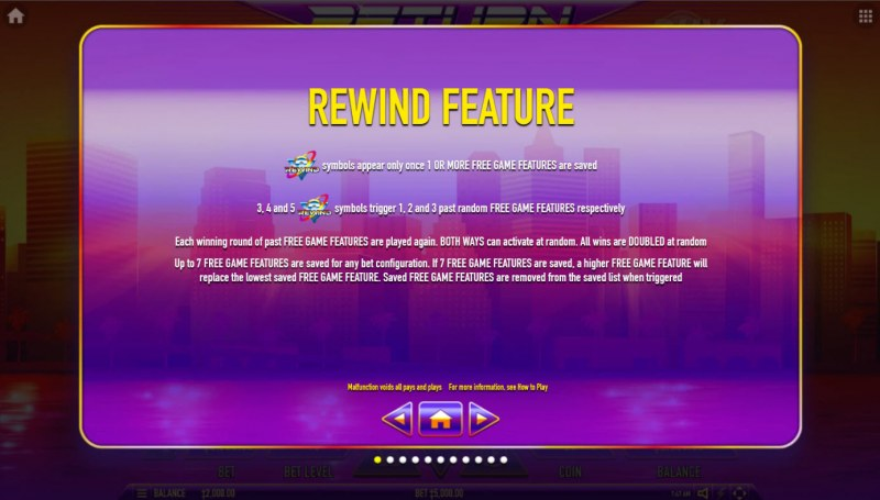 Return to the Feature :: Rewind Feature
