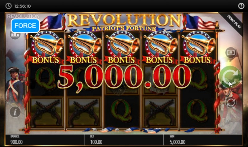 Revolution Patriot's Fortune :: Scatter symbols triggers the free spins feature