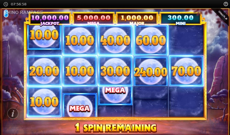 Rhino Rampage Lightning Spins :: Fill the reels with scatter symbols and win big