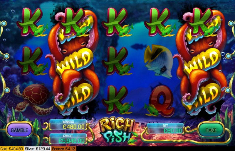 Rich Fish :: Multiple winning combinations leads to a big win