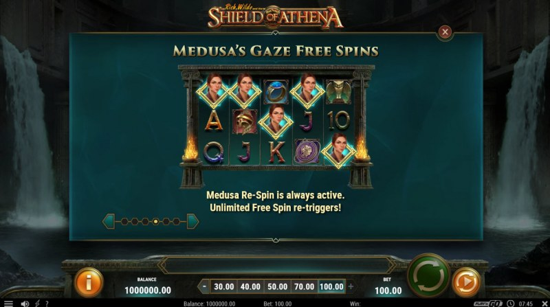 Rich Wild and the Shield of Athena :: Free Spins Rules