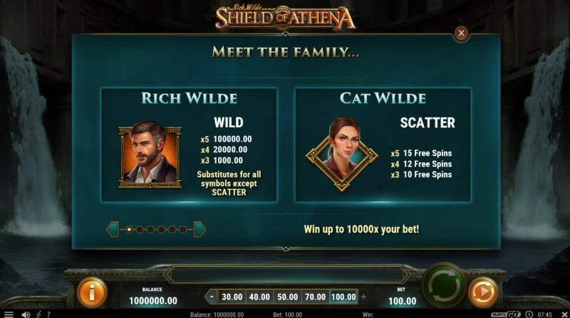 Rich Wild and the Shield of Athena :: Wild and Scatter Rules