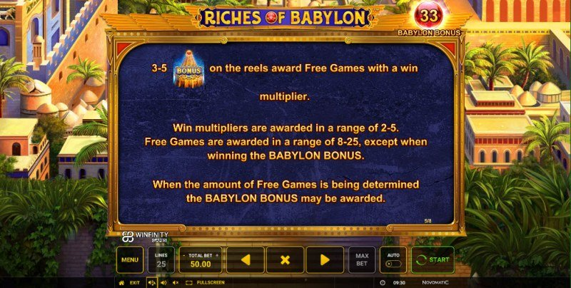 Riches of Babylon :: Free Spins Rules