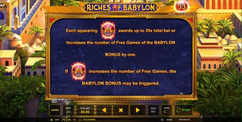 Riches of Babylon :: Bonus Game Rules