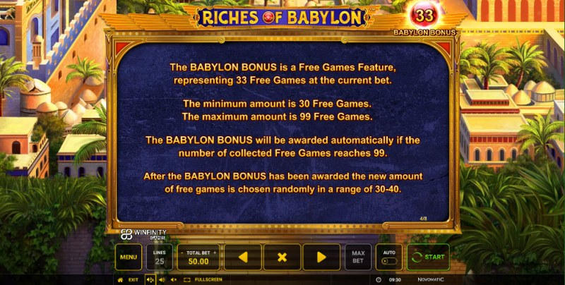Riches of Babylon :: Feature Rules
