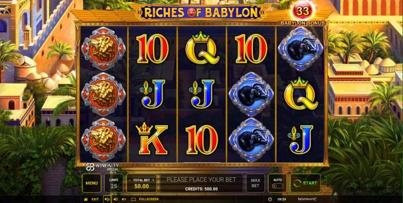 Riches of Babylon :: Main Game Board