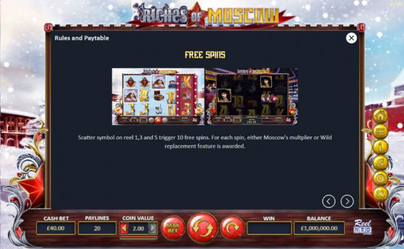 Riches of Moscow :: Free Spins Rules