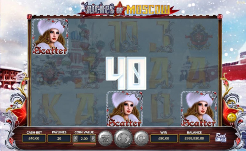 Riches of Moscow :: Scatter symbols triggers the free spins feature