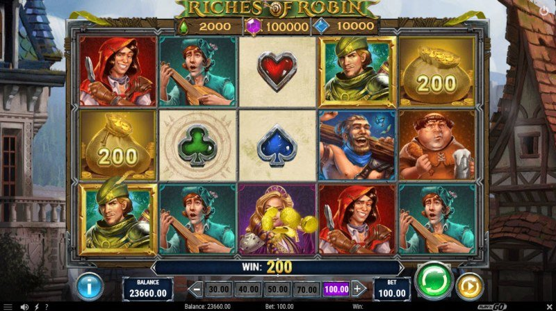 Riches of Robin :: Quick Hit feature pays 200 coins