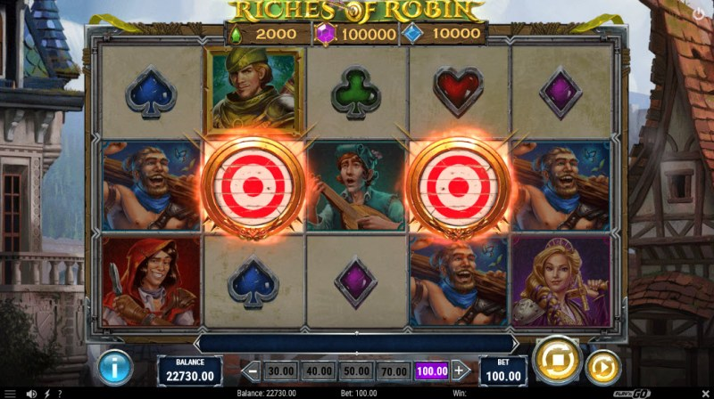 Riches of Robin :: Scatter symbols triggers the free spins feature