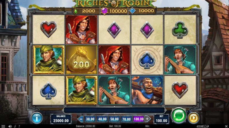 Riches of Robin :: Main Game Board
