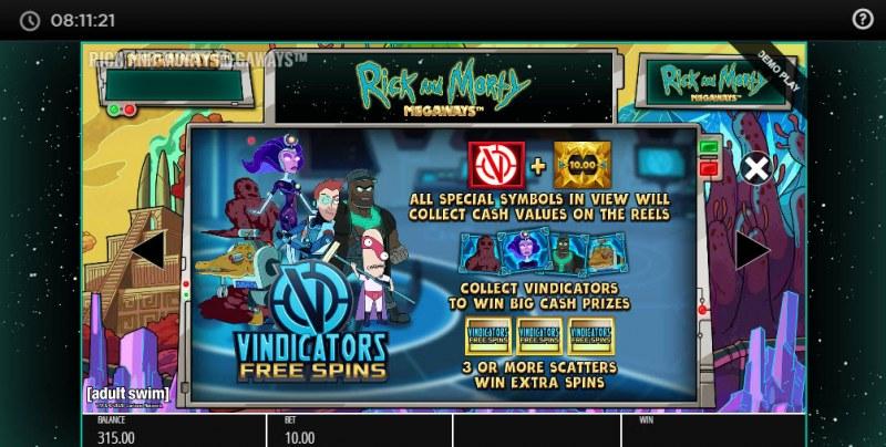 Rick and Morty Megaways :: Vindicators Free Spins