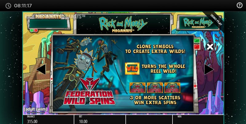 Rick and Morty Megaways :: Federation Wild Spins