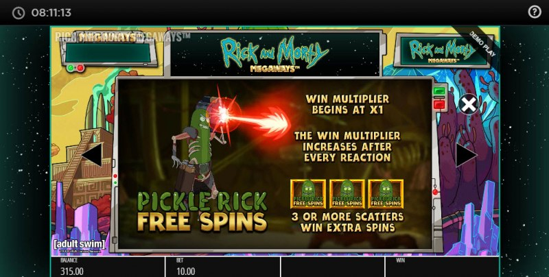 Rick and Morty Megaways :: Pickle Rick Free Spins