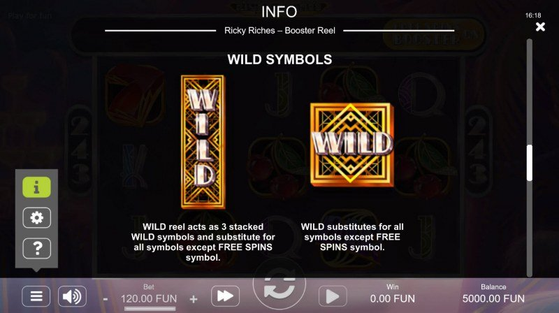 Ricky Riches Booster Reel :: Wild Symbol Rules