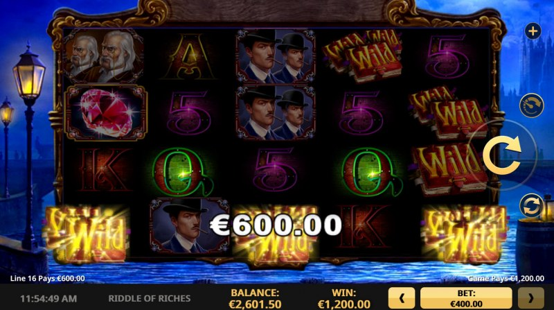 Riddle of Riches :: A five of a kind win