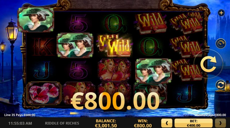 Riddle of Riches :: A four of a kind win