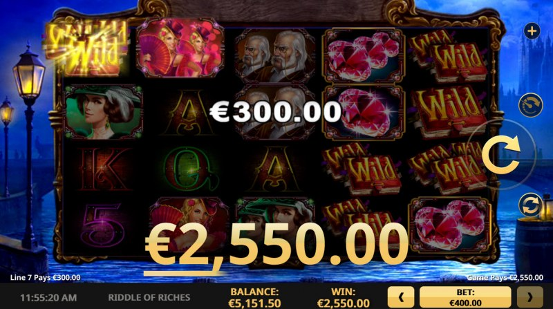 Riddle of Riches :: Multiple winning paylines
