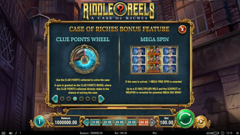 Riddle Reels A Case of Riches :: Feature Rules