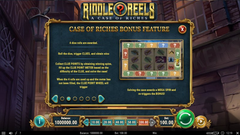 Riddle Reels A Case of Riches :: Bonus Game Rules