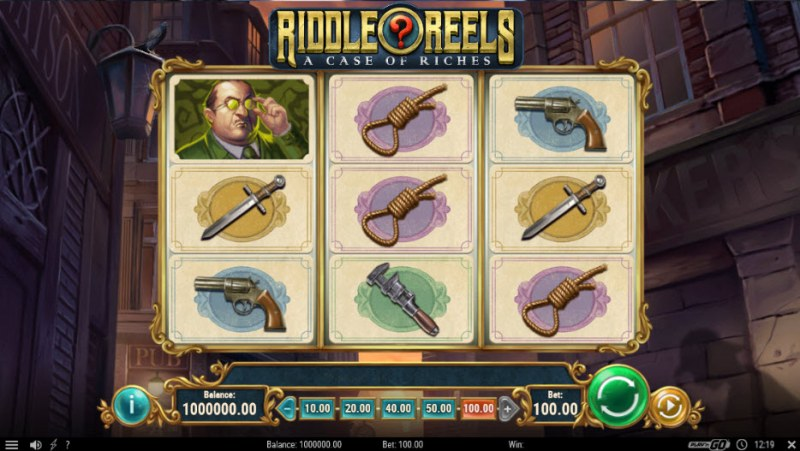 Riddle Reels A Case of Riches :: Main Game Board