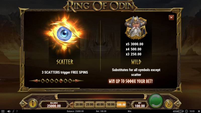 Ring of Odin :: Wild and Scatter Rules