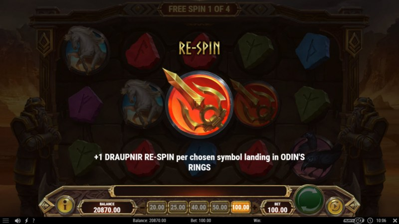 Ring of Odin :: 4 Free Spins Awarded