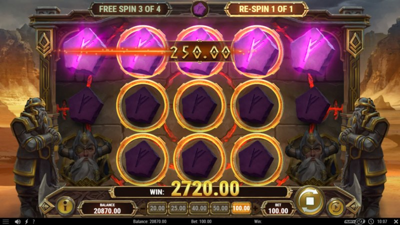 Ring of Odin :: Odin Ring feature triggeres multiple winning paylines