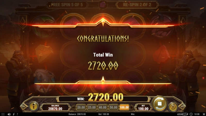 Ring of Odin :: Total free spins payout