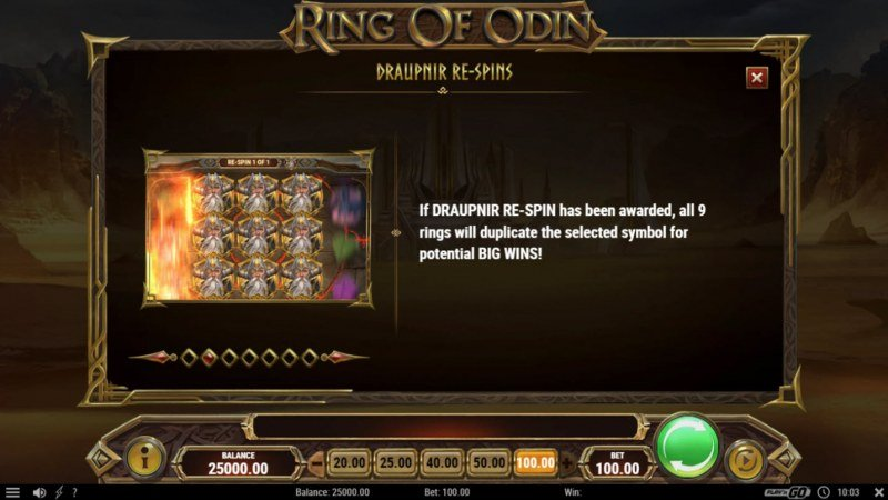 Ring of Odin :: Respins Feature Rules