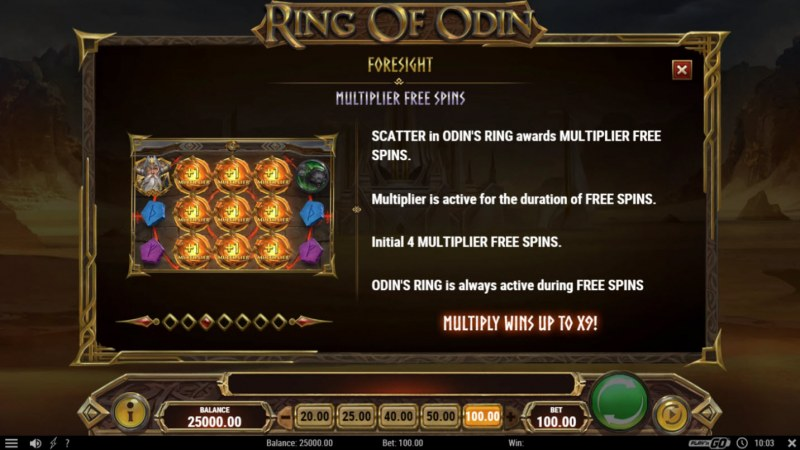 Ring of Odin :: Free Spins Rules