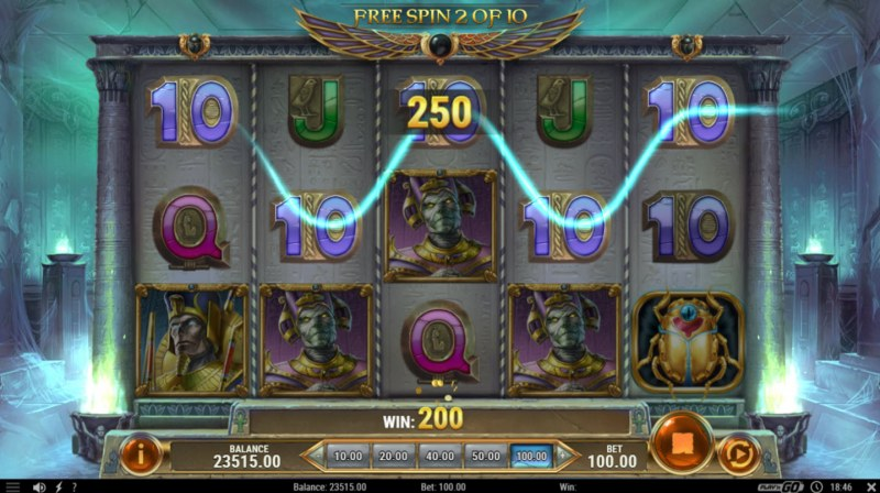 Rise of Dead :: Free Spins Game Board