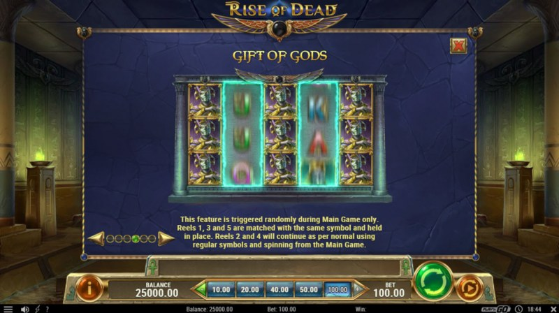 Play slots at Scatters: Scatters featuring the Video Slots Rise of Dead with a maximum payout of $500,000