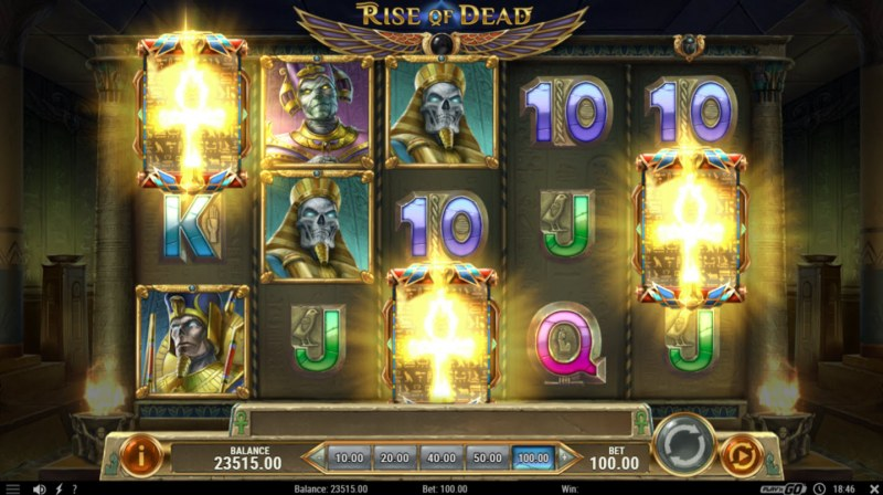 Rise of Dead :: Scatter symbols triggers the free spins feature