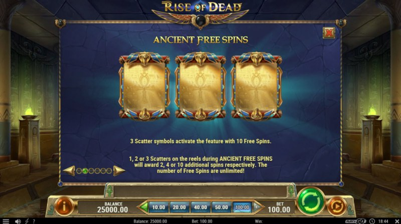 Rise of Dead :: Scatter Symbol Rules