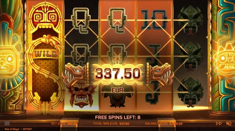 Rise of Maya :: Free Spins Game Board