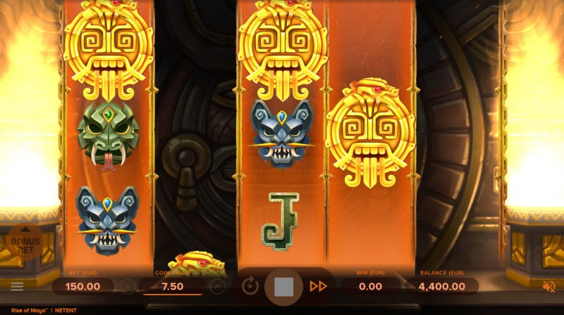 Rise of Maya :: Scatter symbols triggers the free spins feature
