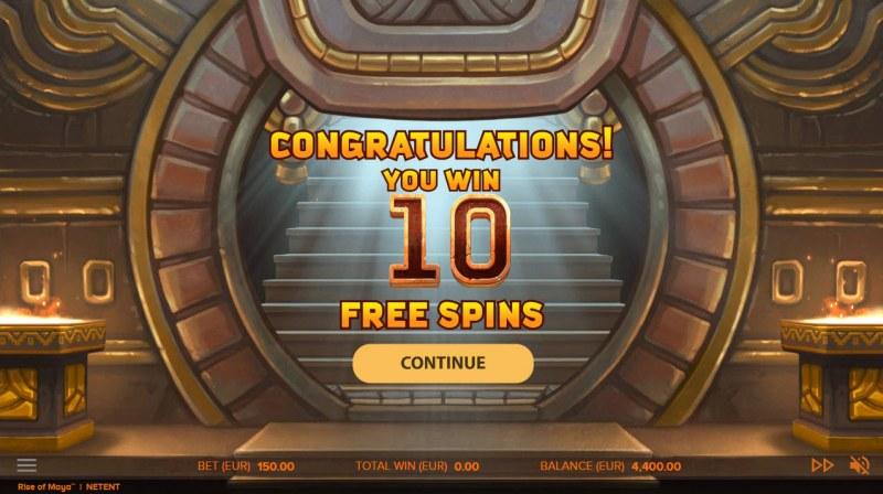 Rise of Maya :: 10 Free Spins Awarded