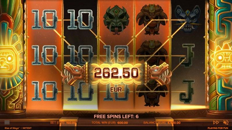 Rise of Maya :: Multiple winning paylines